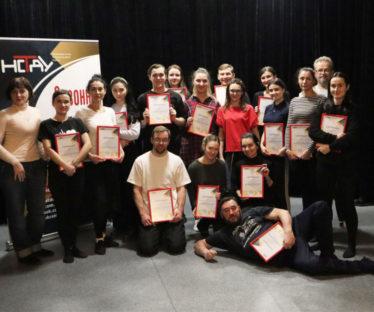 Практикум зі сценічної мови НСТДУ: вручення сертифікатів